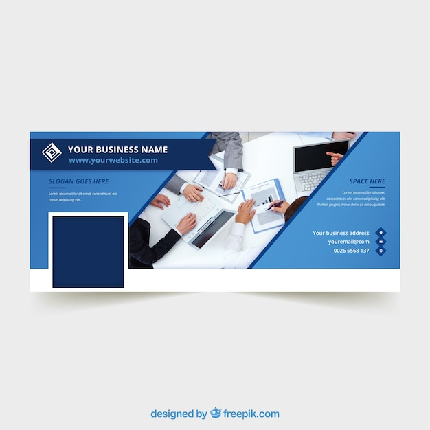Abstract Corporate Facebook Cover Vector Free Download