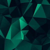 Abstract dark green polygonal background Vector | Free ...