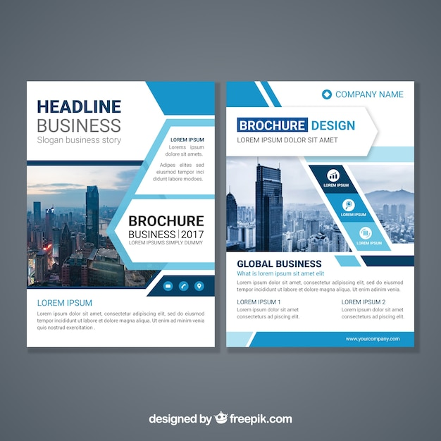 Abstract design brochure template Vector  Free Download