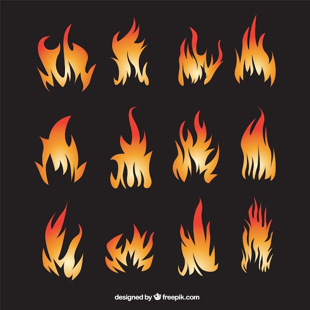 abstract flames collection vector