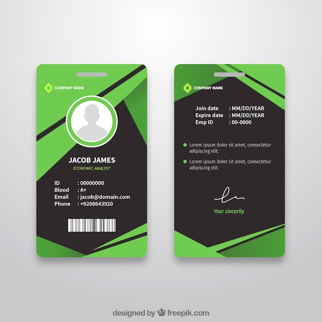 abstract id card template