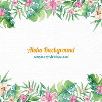 Aloha background design Vector | Free Download
