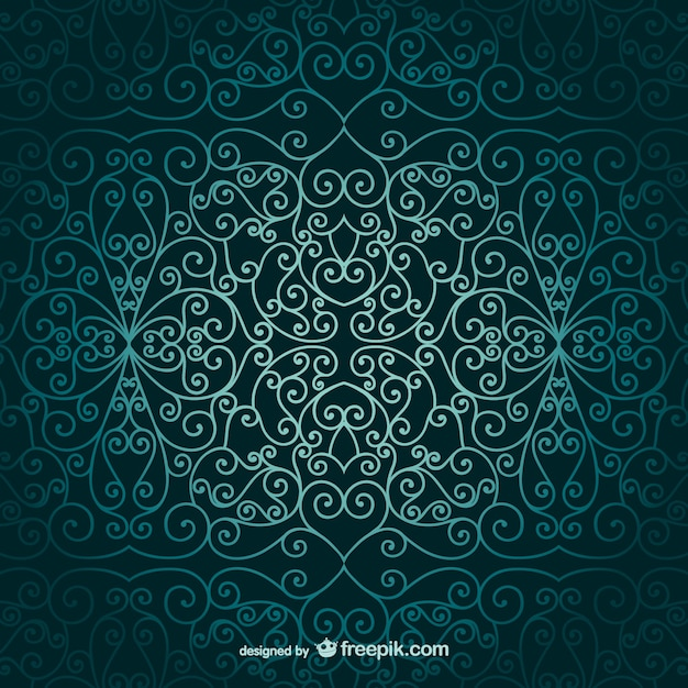 Arabic ornamental wallpaper Vector