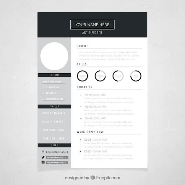 Art director resume template Vector | Free Download