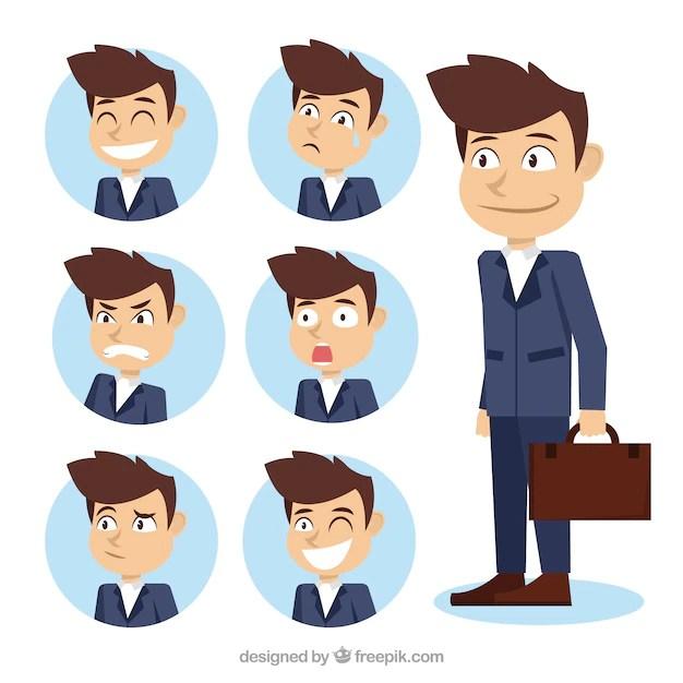 assortment of businessman character