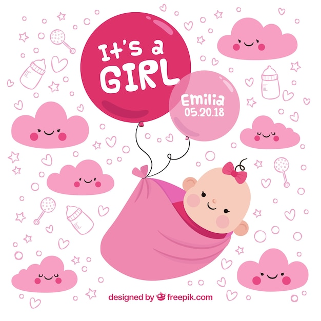 baby girl background in
