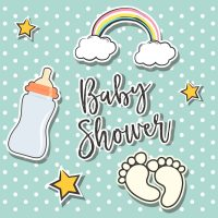 Baby shower background design Vector | Free Download