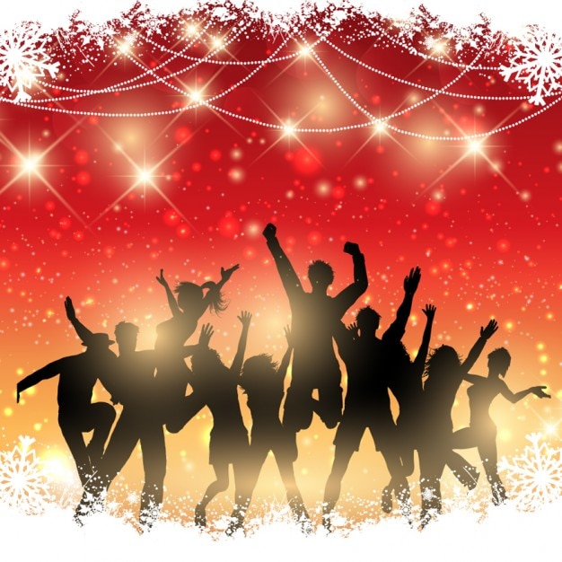Background Of Christmas Party Vector  Free Download