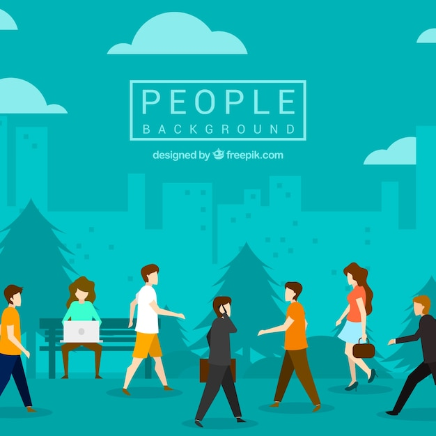 Walking People Vectors Photos And PSD Files Free Download