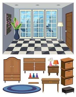 background empty vector premium furnitures scene