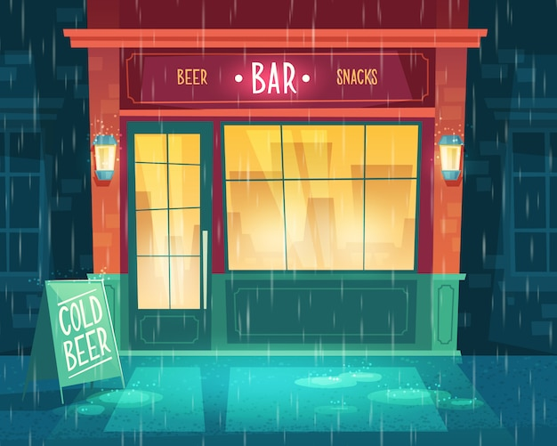 background with bar at