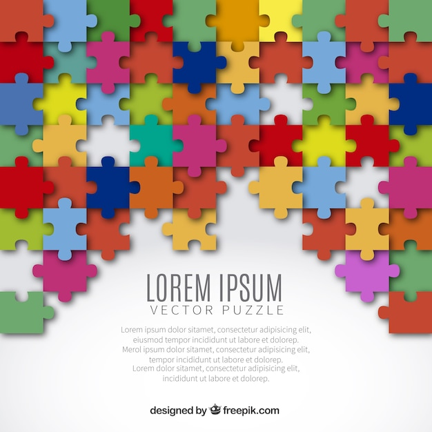 3d Wallpaper Making Software Free Download Background With Colored Puzzle Pieces Vector Premium