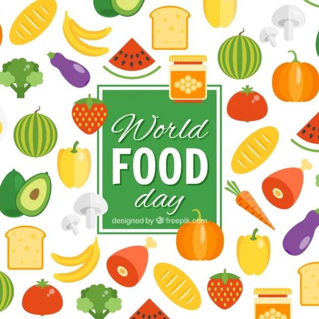 background of world food