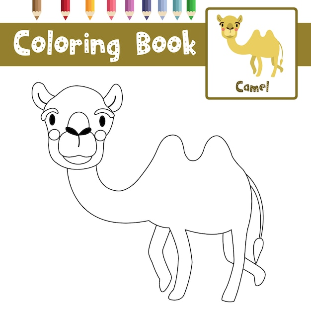 Premium Vector Bactrian Camel Coloring Page