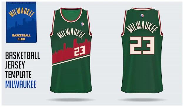 Download Basketball jersey mockup template design Vector | Premium ...