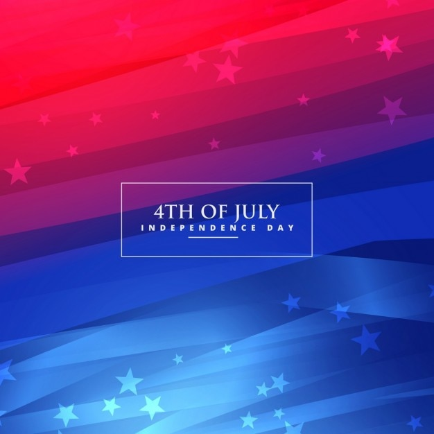 Beautiful 4th of July gradient background Free Vector