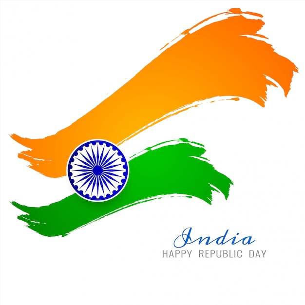 Free Vector Beautiful Indian Flag Theme Vector Background