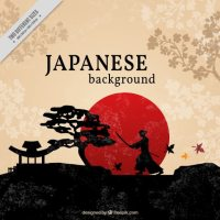 Beautiful japanese background Vector | Free Download