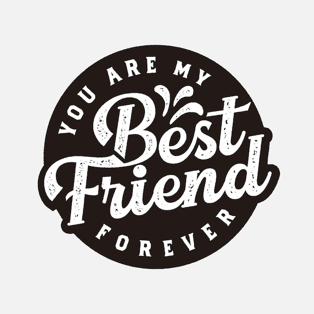 Premium Vector Best Friend Forever Label