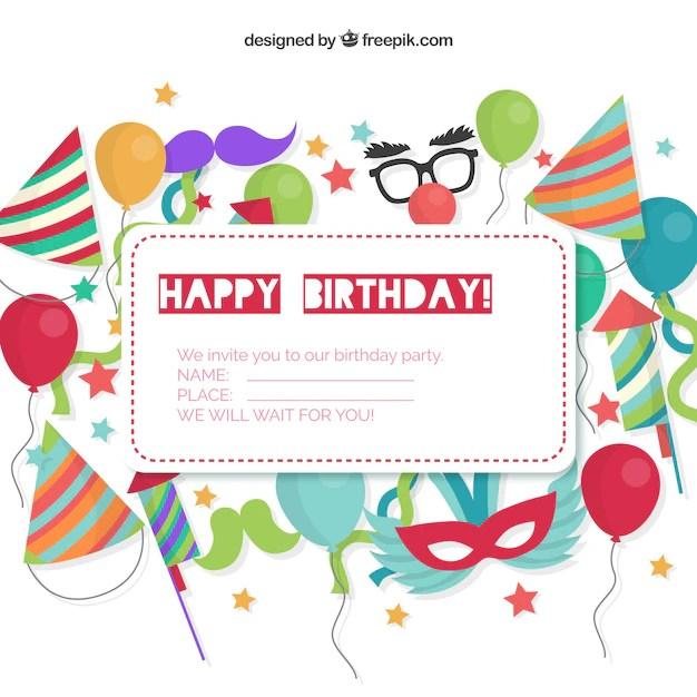 Birthday Invitations Vector