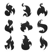 fire vectors and psd files