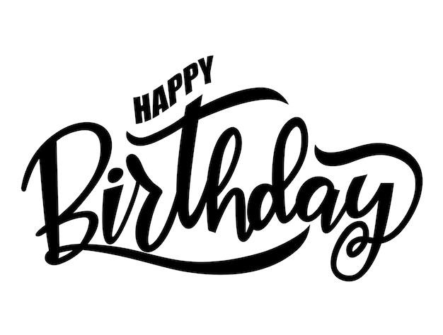 Premium Vector Black Happy Birthday Words
