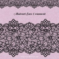 Black lace decoration Vector | Free Download