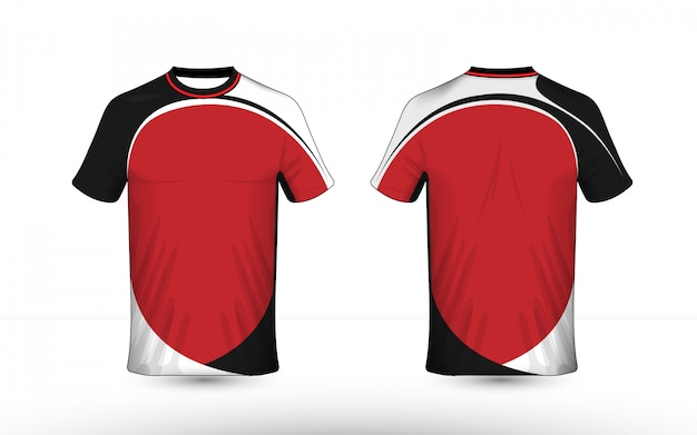 Premium Vector Black White And Red Layout E Sport T Shirt Design Template