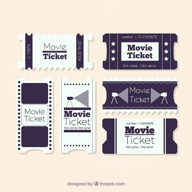 white vintage movie ticket collection