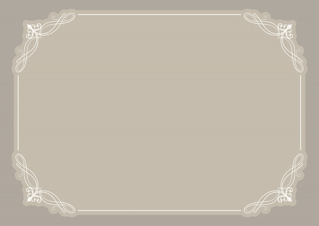 Blank certificate background with decorative frame Vector | Free ...