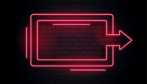 blank neon arrow light