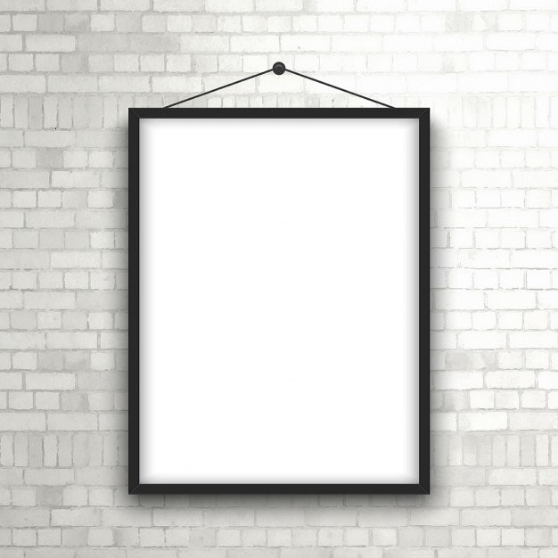 blank picture frame hanging