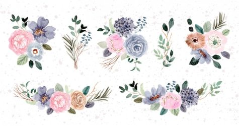 Free Flower Clipart Vectors 4 000+ Images in AI EPS format