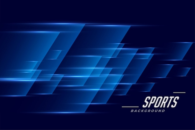 blue sports background in
