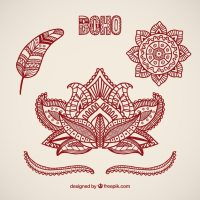 Boho elements design Vector | Premium Download
