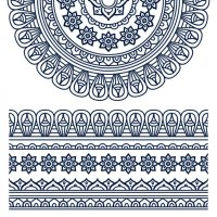 Boho style ornament design Vector | Free Download