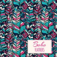 Boho style pattern design Vector | Free Download