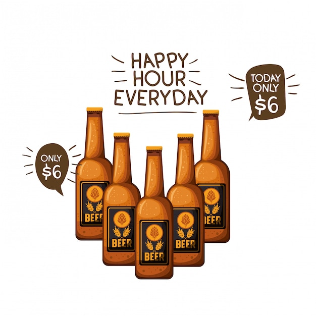 Download Bottle of beer isolated icon Vector   Premium Download