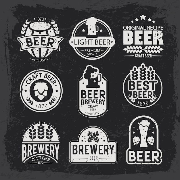 Free Vector Brewery Logos And Emblems Design