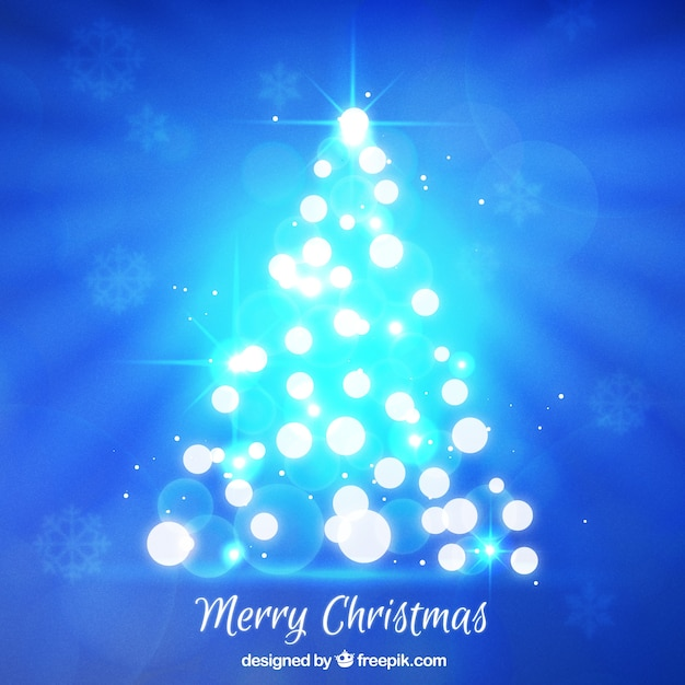 Bright Christmas Tree Background Vector Free Download