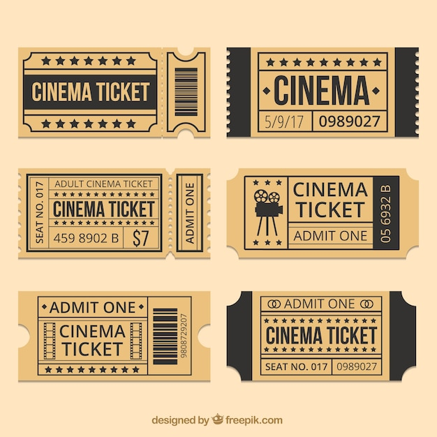 brown cinema tickets with
