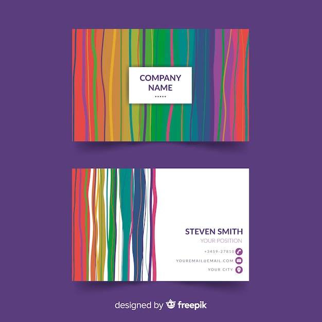 Colorful and Modern Free Vector Business Card Design