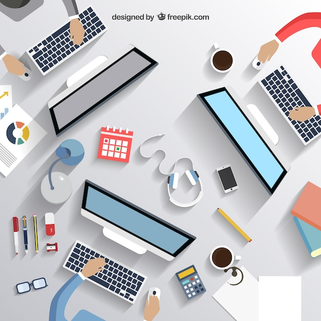 Business desk Vector  Free Download