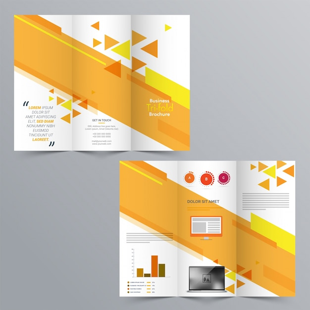 Tri Fold Brochure Template Design Ideal Vistalist Co
