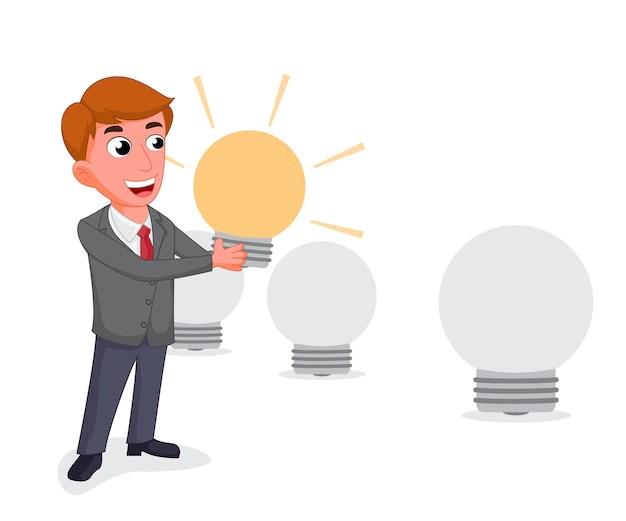 Businessman Selecting The Best Employee Premium Vector