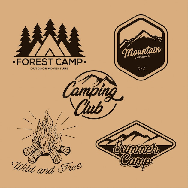 camper badge vintage logo