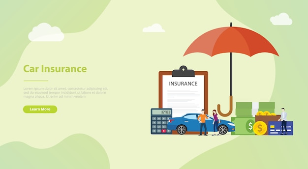 By thememor in unbounce landing pages. Premium Vector Car Insurance Concept For Website Template Or Landing Homepage