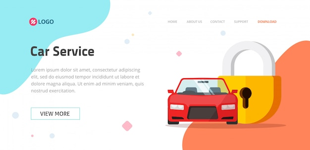 Premium Vector Car Insurance Or Vehicle Protection Service Website Template