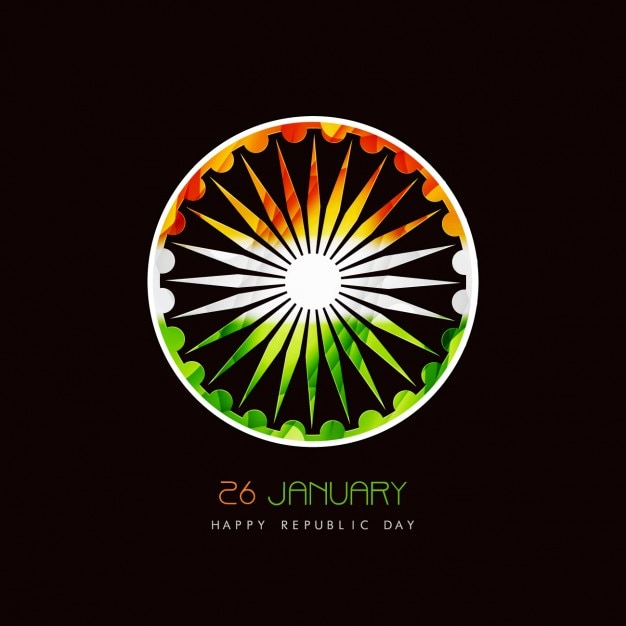 Ashok Chakra 3d Wallpaper Card Of Indian Republic Day With Ashoka Chakra Vector