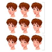 cartoon character hairstyles vector